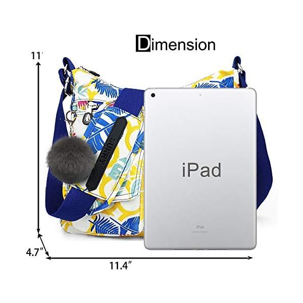 Nylon Crossbody Bag for Women with Anti theft RFID Pocket