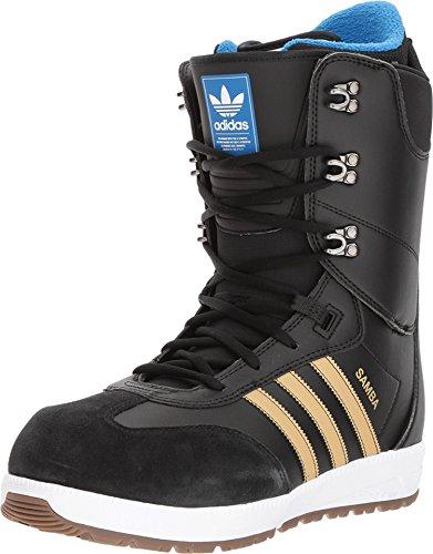 adidas Skateboarding Men's Samba ADV Core Black/Gold Metallic/Footwear White 9 D US D (M)