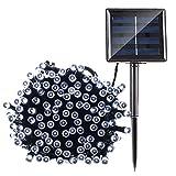 Qedertek Solar String Lights, 72ft 200 LED String Lights, 8 Modes Ambiance Lighting for Outdoor, Patio, Lawn, Landscape, Fairy Garden, Home, Wedding, Waterproof (Cool White)