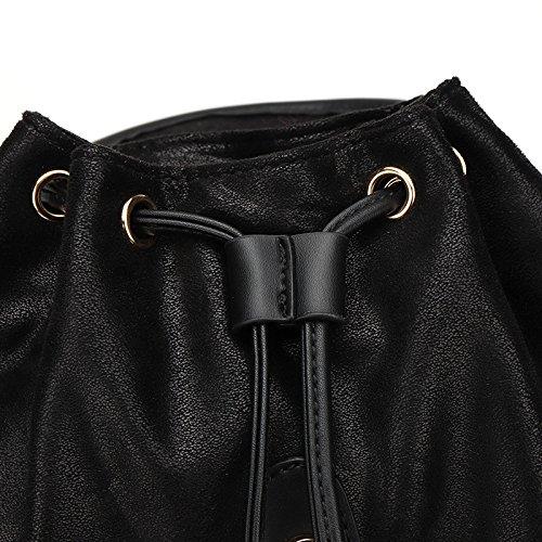 Zaini Versione In Tessuti Signore Black Moda Semplici Cuciture Borse Pu Coreana wI0xSwHq