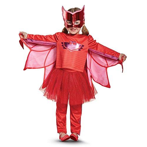 Owlette Prestige Tutu Pj Masks Costume, Red, Medium (3T-4T)