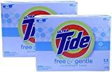 Tide Ultra Free and Gentle Scent Powder Laundry Detergent 56 Ounce, (Pack of 2)
