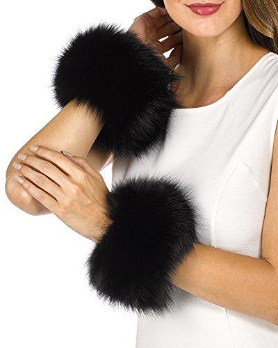 Fur Slap on Cuffs - Black Fox Fur by Frr (Image #1)