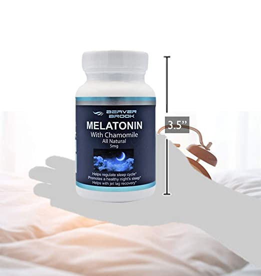 Amazon.com: Beaver Brook Melatonin 5mg All Natural Sleep Better Special Formula with Chamomile Non-GMO - 2 Pack: Health & Personal Care