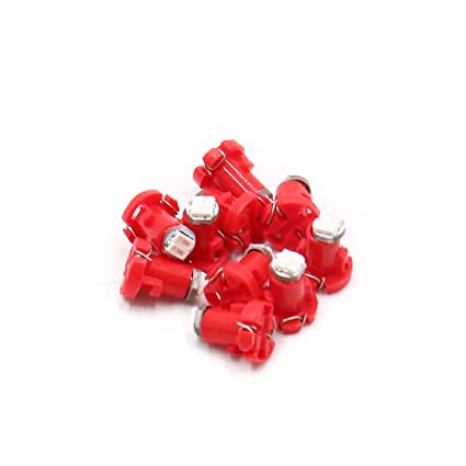 uxcell 10Pcs T3 3014 2-SMD Red LED Dashboard Gauge Light Lamp Bulb for Car Interior a17062600ux1489