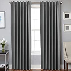H.VERSAILTEX Thermal Insulated Blackout Curtains - Back Tab/Rod Pocket - No tie backs (Set of 2 Panels)