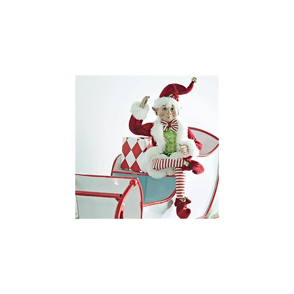16-inch-Posable-Elf-in-Santa-Outfit-Christmas-Decor-by-Raz-Imports