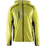 Craft Sportswear Men's Focus 2.0 Running and Training Lightweight Reflective with Packable Hood Jacket: dryfit/cool/protection/sun/athletic/athleisure/quick/wicking/fitness/workout/performance/exercise/trail, Racer/Navy, Small
