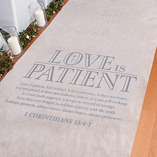 Fun Express Love is Patient Wedding Aisle Runner (1 Corinthians 13: 4-7) 3' x 100 ft ()