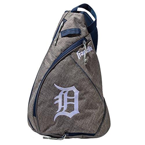 Franklin Sports Detroit Tigers Slingback Baseball Crossbody Bag - Shoulder Bag w/Embroidered Logos - MLB Official Licensed - Tigers Detroit Bag