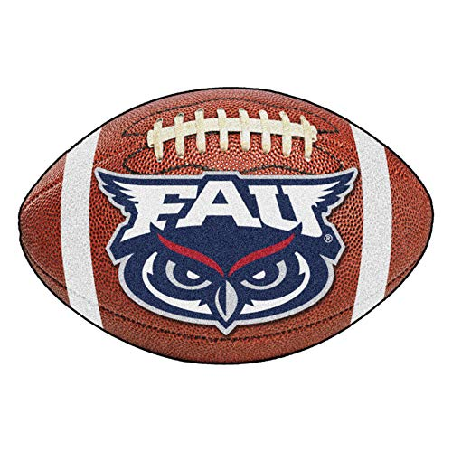FANMATS NCAA Florida Atlantic University Owls Nylon Face Football Rug ()