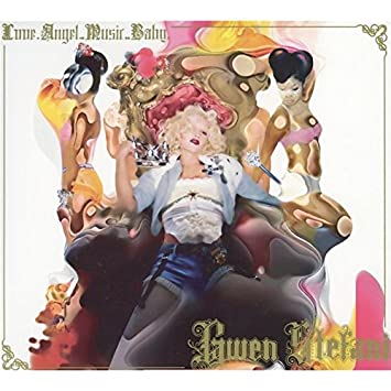 personally signed LOVE ANGEL MUSIC BABY CD cover GWEN STEFANI