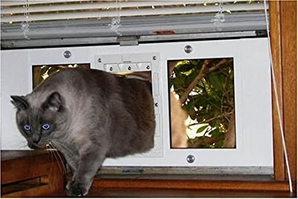 Amazon 23 28 Window Sash Pet Door 7x 11 Flap Cat Door