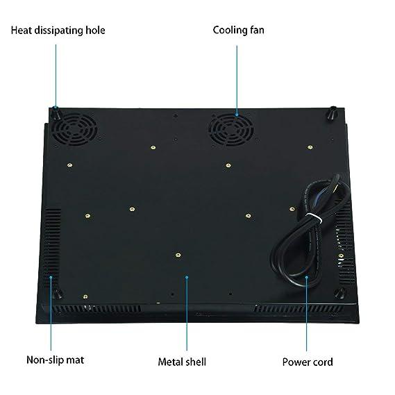 Amazon.com: Estufa eléctrica C43 integrada, vitro cerámica ...