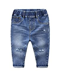 Buy-Box Children's Boys Girls Hole Denim Trousers Baby Pants Shredded Jeans