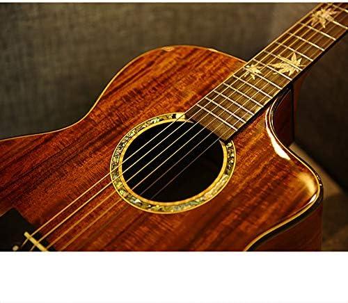 NUYI Guitarra Acústica Caja Eléctrica Guitarra Hombres y Mujeres ...