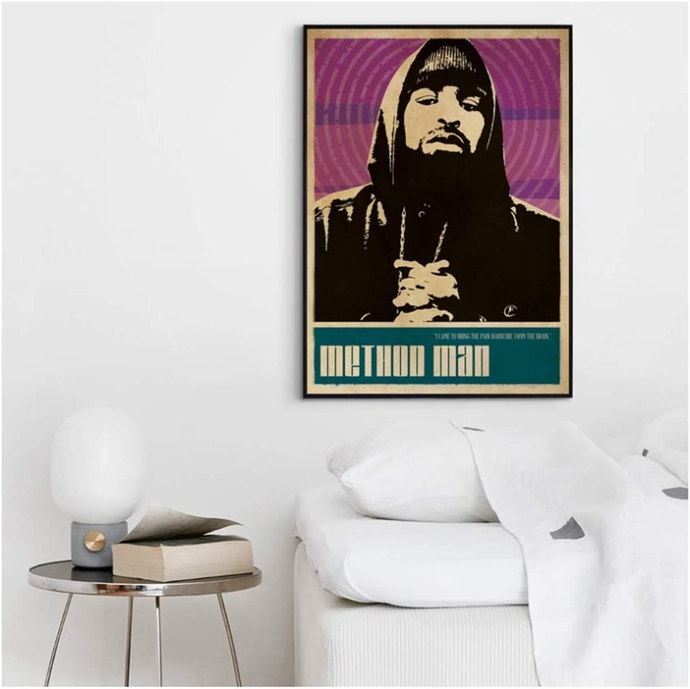 NRRTBWDHL Methode Mann Wu Tang Clan Musik S/änger Poster Hip Hop Rap Musik Band Star Poster Wandkunst Malerei Raum Wohnkultur Leinwand Print-60x90 cm Kein Rahmen