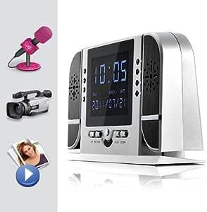 Reloj Despertador cámara, Det. Sonido,Movimiento,Visión
