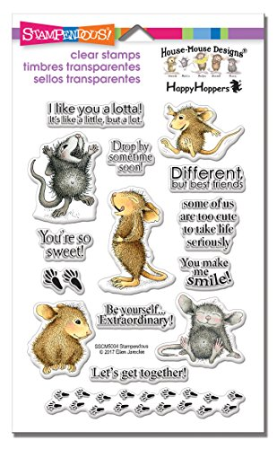 Stampendous SSCM5004 House Mouse Clear Stamp Set, So Sweet