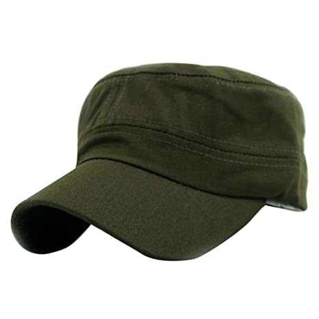 927ff954387 Image Unavailable. Image not available for. Color  HANANei Clearance Sale Classic  Plain Vintage Army Military Cadet Style Cotton Cap ...