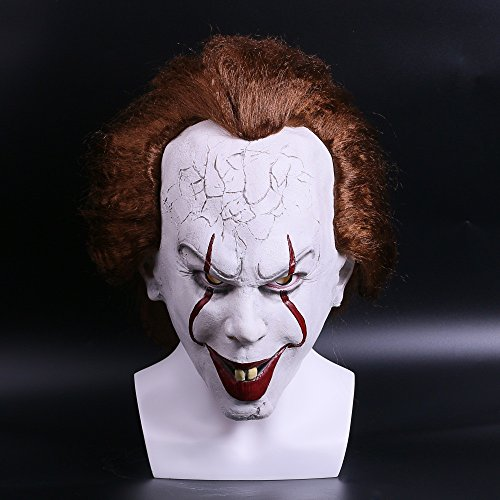 Halloween Horrible Clown Mask Soft Latex Helmet