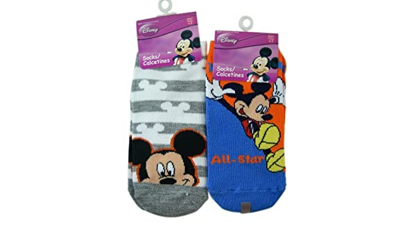 Amazon.com: Mickey Mouse Socks - Kids Novelty Socks (3 Pairs) Size 6 - 8: Clothing