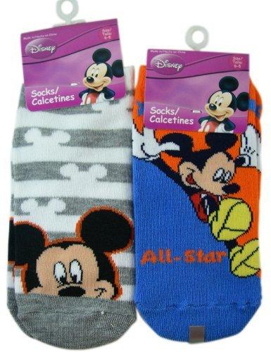 Mickey Mouse Socks - Kids Novelty Socks (3 Pairs) Size 6 - 8