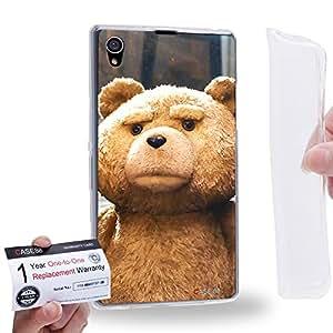 Case88 [Sony Xperia Z1] Gel TPU Carcasa/Funda & Tarjeta de garantía - 2015 Ted Teddy Bear 0927