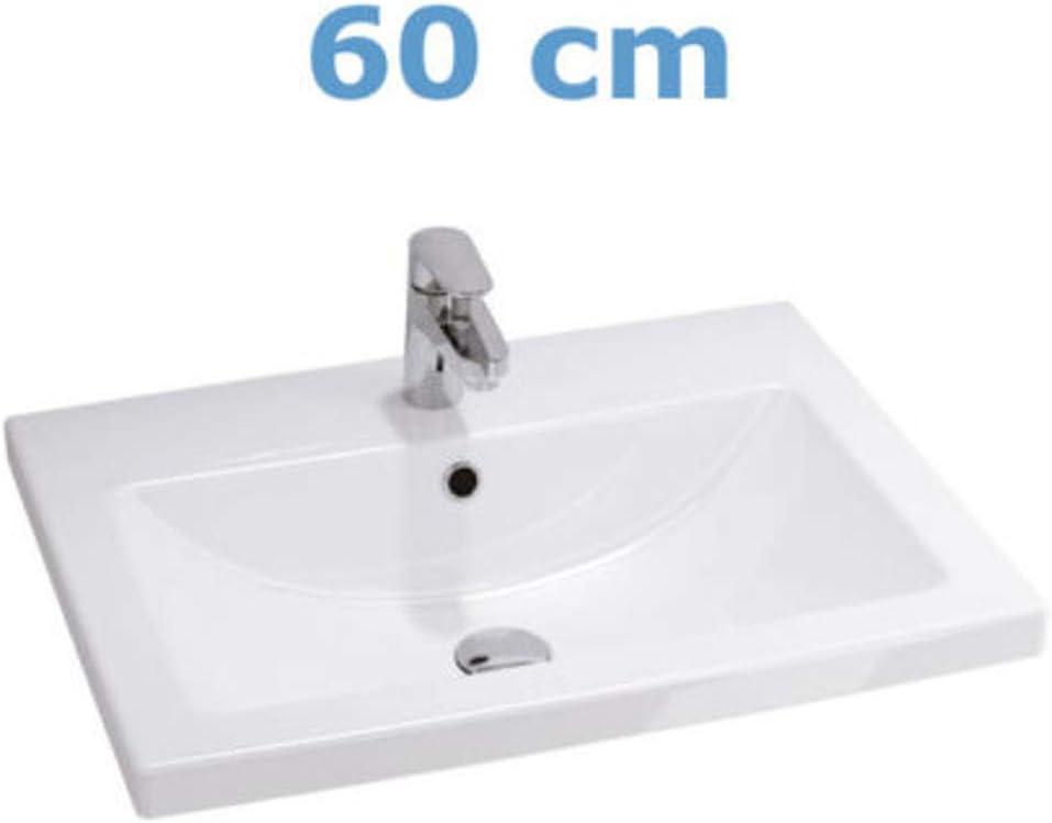Mobile da bagno per lavabo con 2 cassetti  in noce 50//60//80 cm. VBChome Lara
