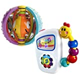 Baby Einstein Take Along Tunes Musical Toy & Smarts Spin Ball Toy