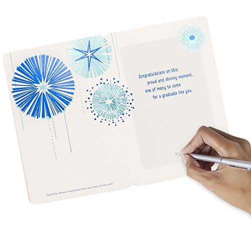Hallmark Graduation Greeting Card with Removable Bookmark (Let your Dreams Light Your Way) Photo #6