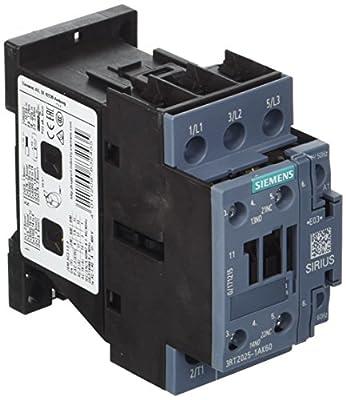 Siemens 3RT20251AK60 Contactor, AC-3, 7.5Kw/400V, 1No+1Nc, AC110V 50Hz, 120V 60Hz 3-Pole, Sz S0 Screw TERMINAL