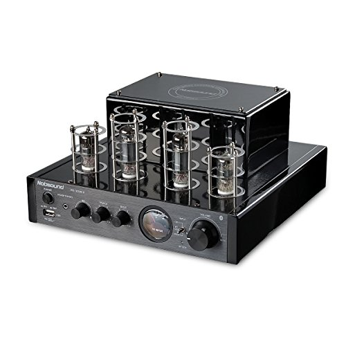 (Nobsound MS-10D MKII Hybird Tube Amplifier with Bluetooth/USB/Headphone for Hi-Fi (Black))