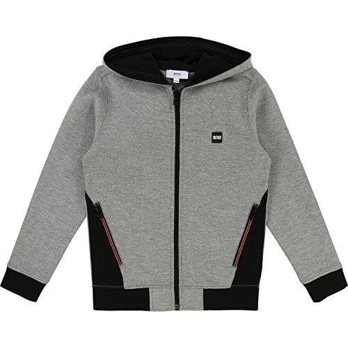 Full Zip Hooded Cardigan (Hugo Boss Kids Boys Full Zip Hoodie Cardigan Sweater 10 Years)