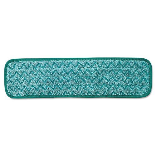 Rubbermaid Commercial Microfiber Dry Room Pad, 18'', Green - 12 microfiber dry room pads.