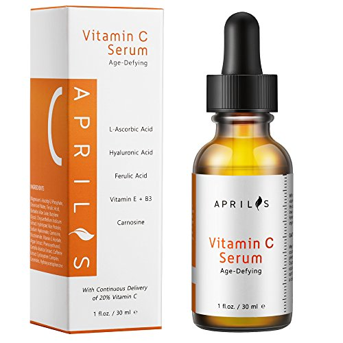 Aprilis 20% Vitamin C Serum with Hyaluronic Acid & Vit E, Organic Anti-Aging & Anti-Wrinkle Facial Serum, Dark Circle, Fine Line & Sun Damage Corrector, Restore & Boost Collagen, 1 - Face Glasses For Circle