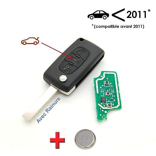 Peugeot - Llave + placa electrónica lista para programar ...