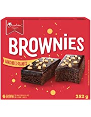 Vachon Brownies Topped with Chocolatey Frosting and Crunchy Chopped Peanuts, Contains 6 Individually Wrapped Brownie Snacks, 252 Grams