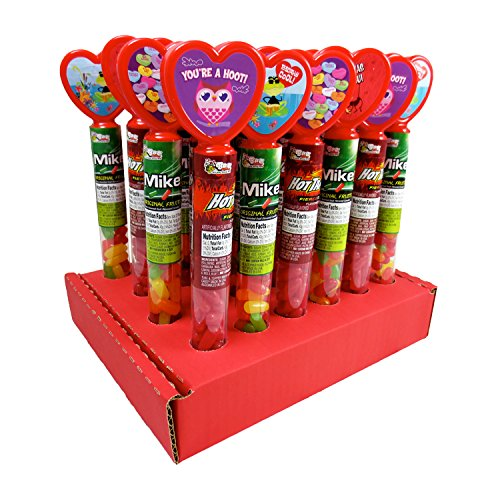 Valentine Heart Tubes w/ Mike and Ike + Hot Tamales Jelly Be