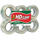 Duck Brand HD Clear High Performance Packaging Tape, 1.88-Inch x 109.3-Yard, Crystal Clear, 6-Pack (299016)