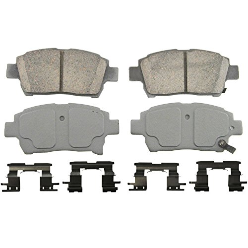 Wagner ThermoQuiet QC990 Ceramic Disc Pad Set With Installation Hardware, Front