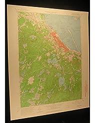 Plymouth Massachusetts Cedar Swamp Kingston 1964 vintage USGS original map