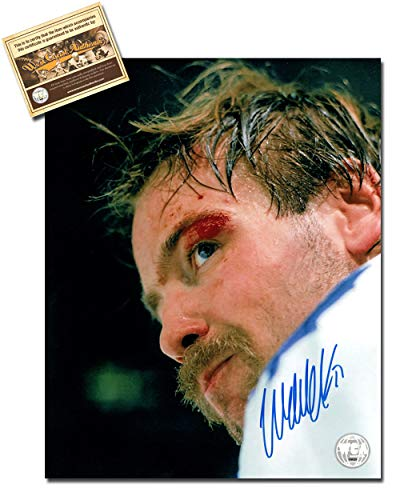 Wendel Clark Autographed Signed 8x10 Hockey Photo Memorabilia Certified with WCA Dual Authentication Holograms and COA
