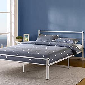 Amazon Com Zinus 12 Inch White Metal Platform Bed Frame