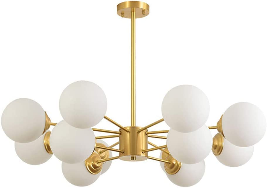 Bronze Chandelier with Satin White Modern Bell Shades