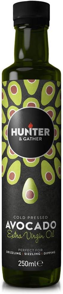 Hunter & Gather Puro, Virgen, Prensado En Frío Aceite de Aguacate 250ml