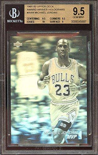 (1992-93 upper deck aw holograms #aw4 MICHAEL JORDAN bulls BGS 9.5 (9.5 9.5 10 9) Graded Card)