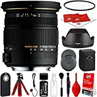 Sigma 17-50mm F2.8 EX DC OS HSM Lens for Canon DSLR Cameras w/ Pro Photo and Travel Bundle