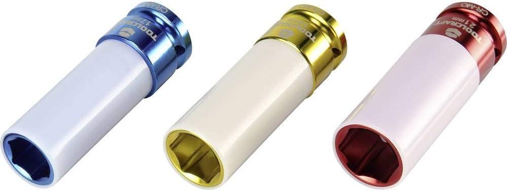 12.5 mm tournevis 1 Jeu de douilles /à chocs renforc/ées TOOLCRAFT 1544321 6 pans ext/érieurs 3 pi/èces Propulseur : 1//2