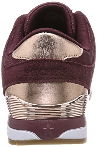 Skechers Damen Sunlite-revival Sneaker Rot (bordeaux / Oro Rosa)